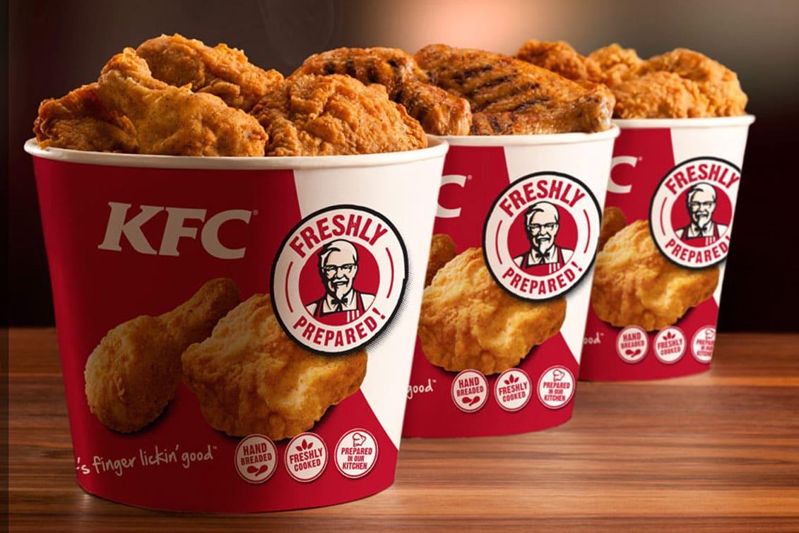 KFC - сеть ресторанов быстрого питания по приготовления блюд из курицы