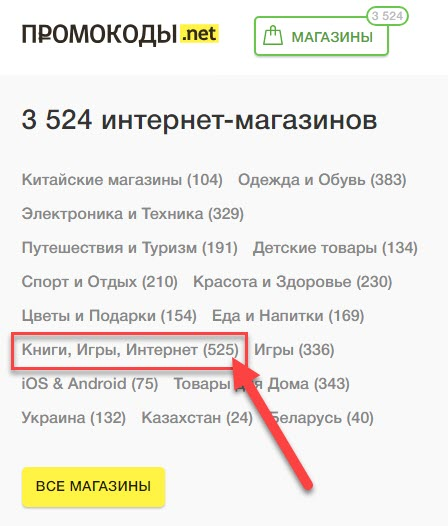 Каталог Промокоды.нет