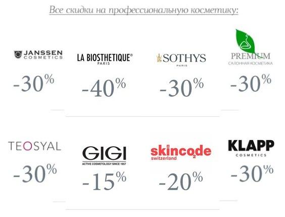 Пример акции со скидкой до 40% в Pharmacosmetica