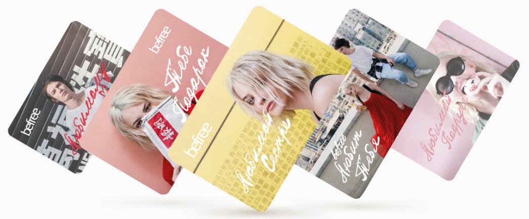 Подарочные карты в интернет-магазине Befree