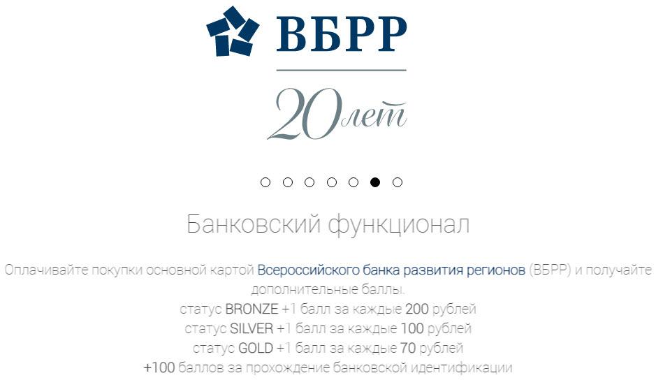 Начисление дополнительных баллов в сети Роснефть при оплате картой ВБРР