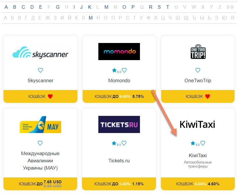 Как быстро найти Киви Такси среди тематических ресурсов